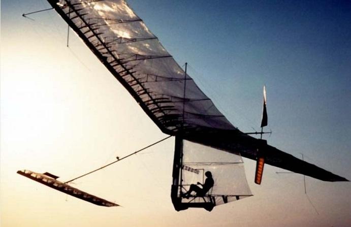 Il volo a pedali sulla Manica