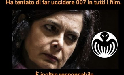 Laura Boldrini a capo della Spectre