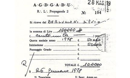 Berlusconi si iscrive alla P2