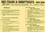 Il programma di Mussolini