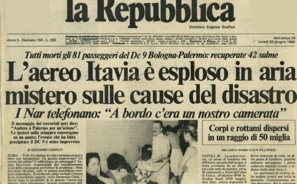 La strage di Ustica – La prima centrale nucleare – Inizia la dittatura di Pinochet