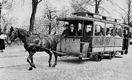 Il primo tram a cavalli