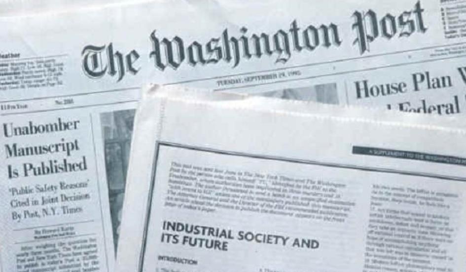 Il manifesto di Unabomber – La prima nazione con il voto alle donne – Charlot bandito dagli USA