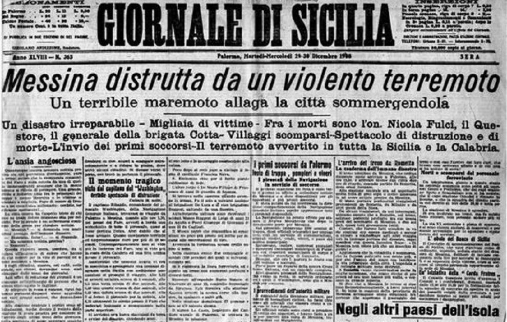 Lo spaventoso terremoto di Messina e Reggio – Il brevetto del chewing-gum – Il gulag di Solženicyn