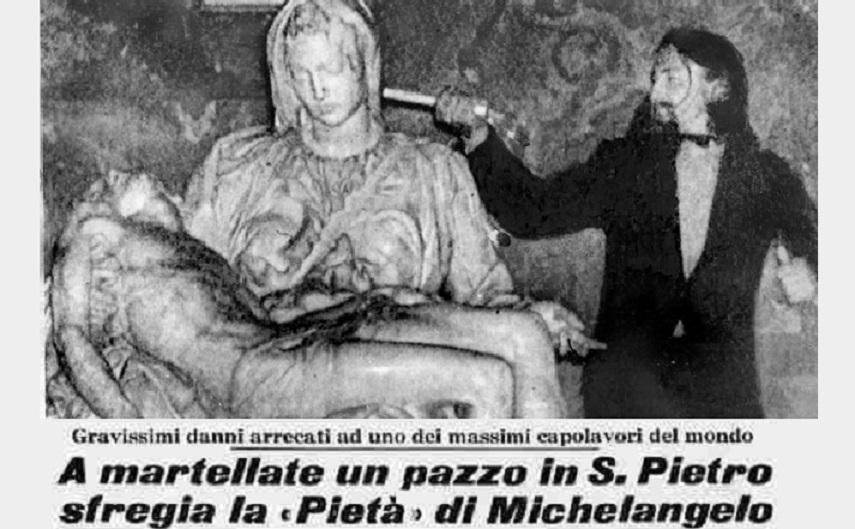 Danneggiata la Pietà di Michelangelo