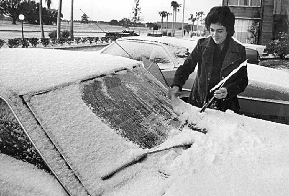 L'incredibile nevicata a Miami