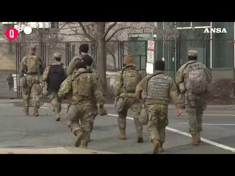 Usa, insediamento Biden: recinzioni di sicurezza e filo spinato intorno al Campidoglio