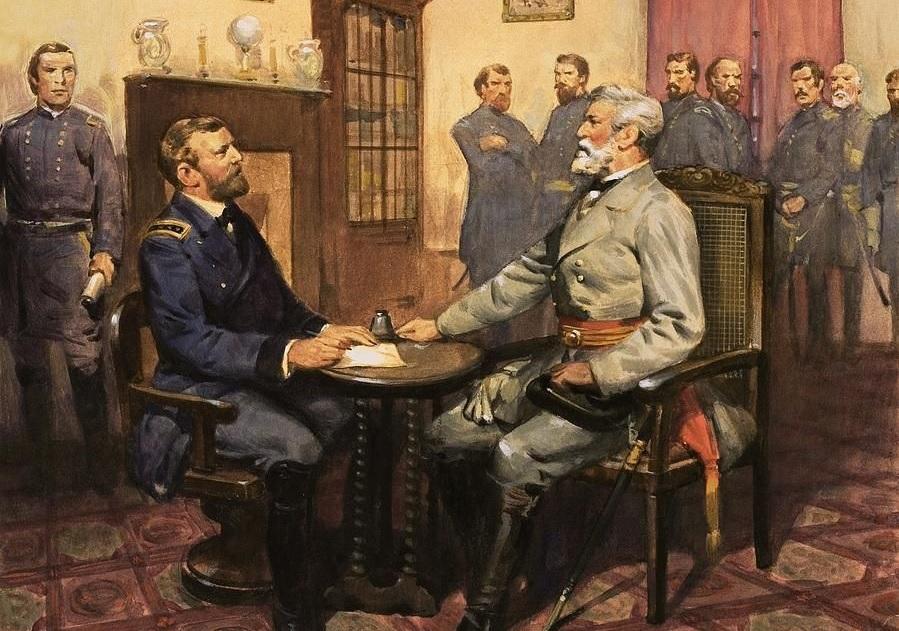 La resa dell'esercito confederato