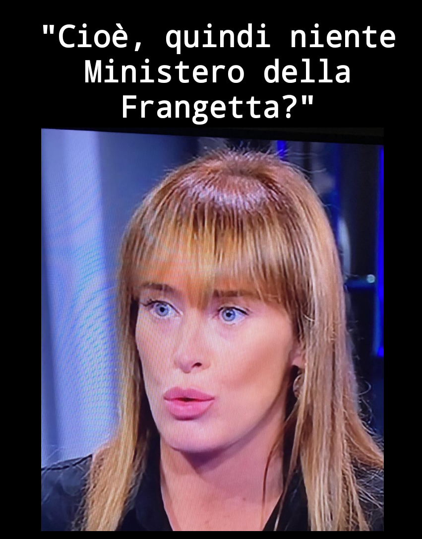 Cioê, quindi niente Ministero della Frangetta?