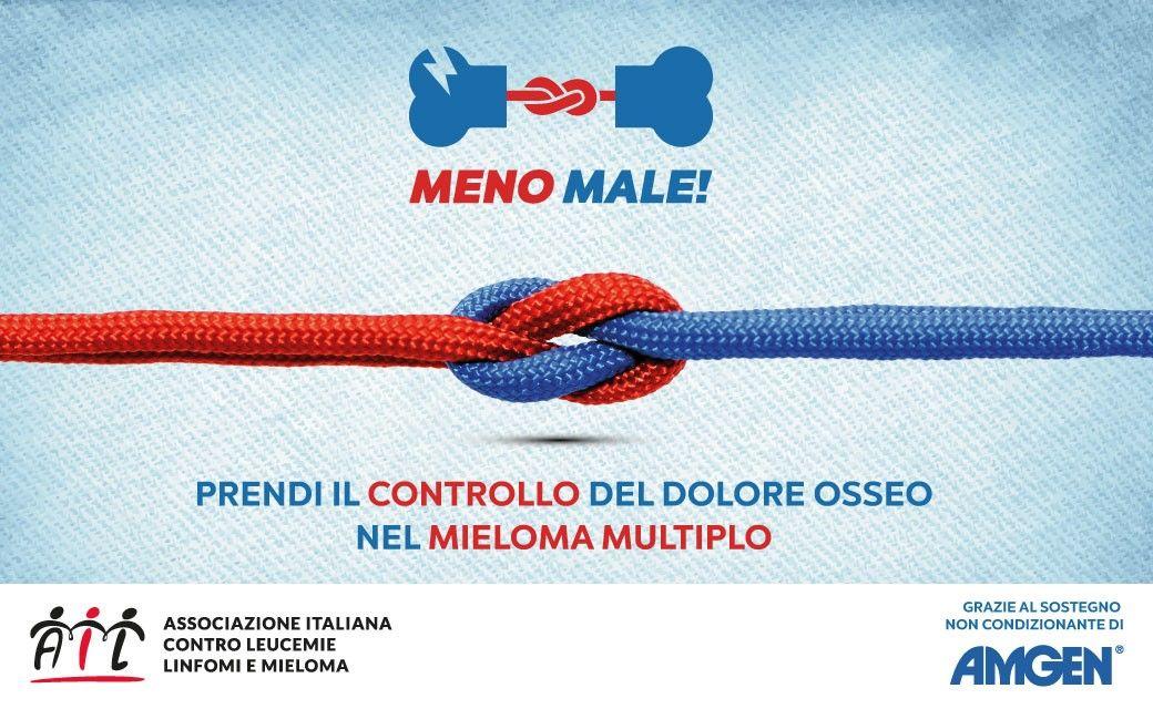 """Mieloma Multiplo, Ail promuove la campagna """"Meno Male!"""""""
