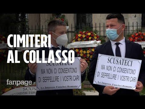 Cimiteri al collasso, la protesta delle pompe funebri: fino a 50 giorni di attesa per una cremazione