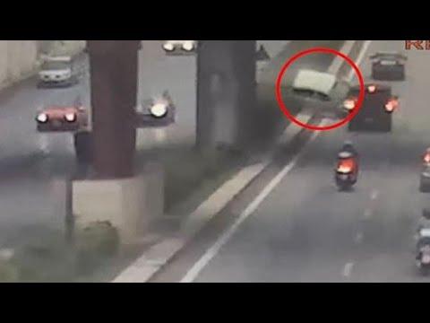 Incidente mortale Palermo, il video del violentissimo schianto