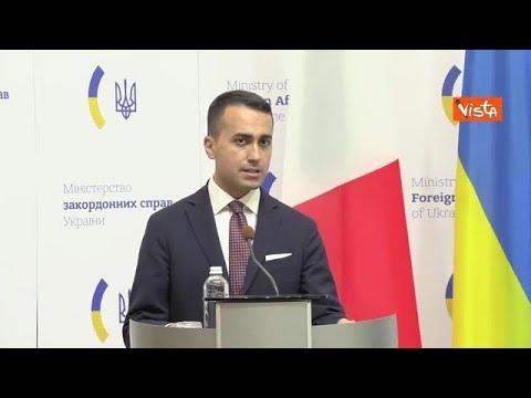 """Di Maio a Kiev: """"Da Italia pieno sostegno all'integrità territoriale dell'Ucraina"""""""