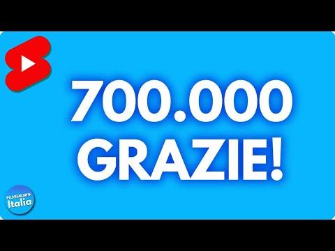 FILMISNOW ITALIA SUPERA I 700K ISCRITTI GRAZIE A VOI! #shorts