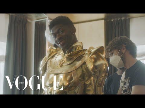Lil Nas X prepara i look per il Met Gala | Vogue Italia