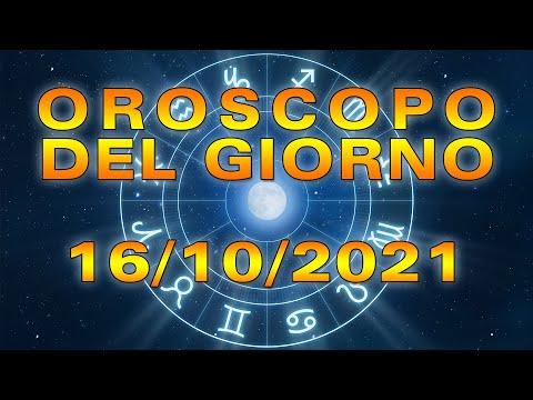 Oroscopo del Giorno Sabato 16 Ottobre 2021!